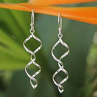 Novica silver dangle earrings