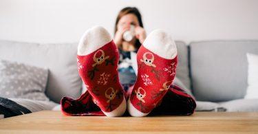 Warm socks for cold feet.