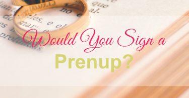 sign a prenup
