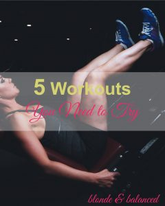 workouts, being fit