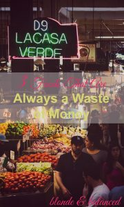 wasted food, waste food, waste your money