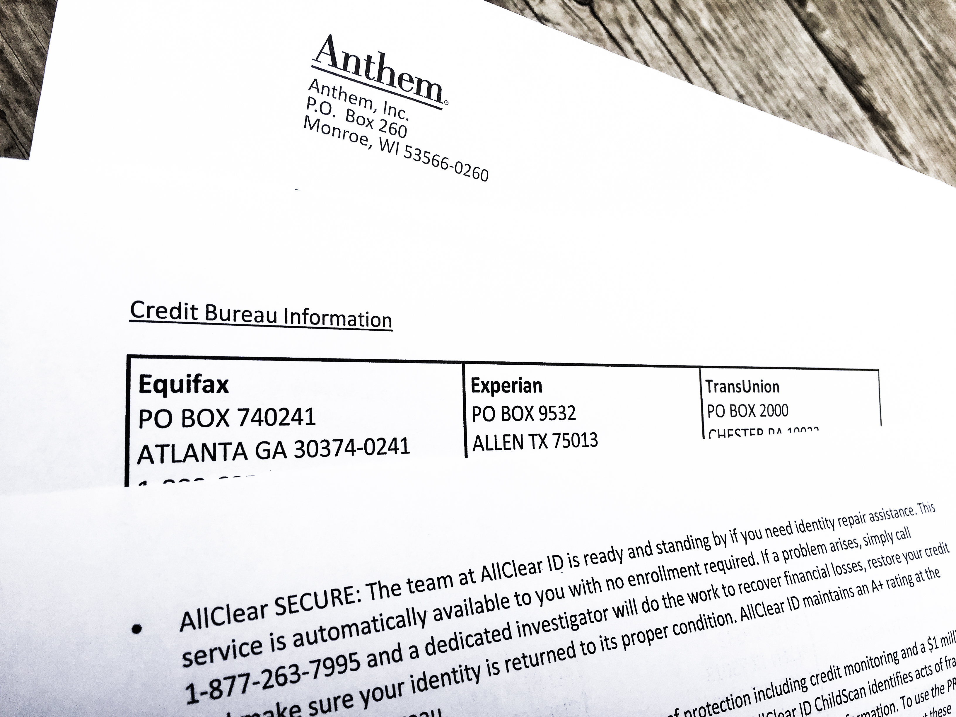 Differences Between Equifax, Experian and Transunion