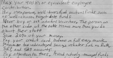 financial advice