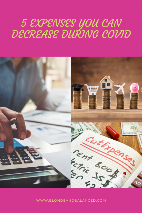 5 Expenses You Can Decrease During COVID